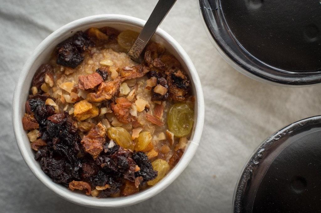 slow girl foods oatmeal overhead