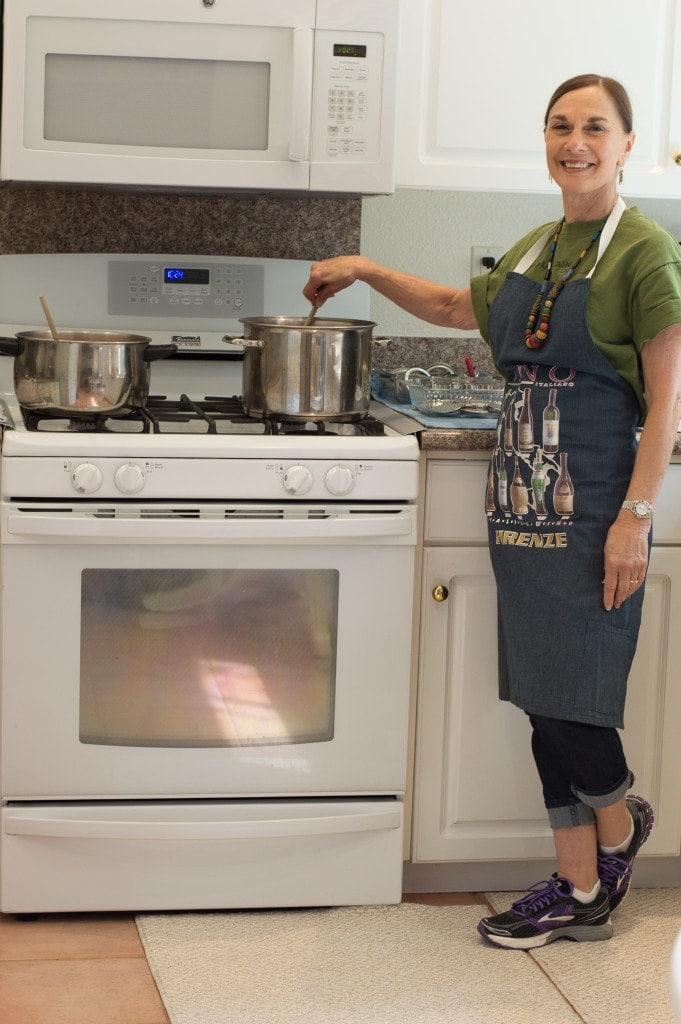 auntie belinda stirring jam