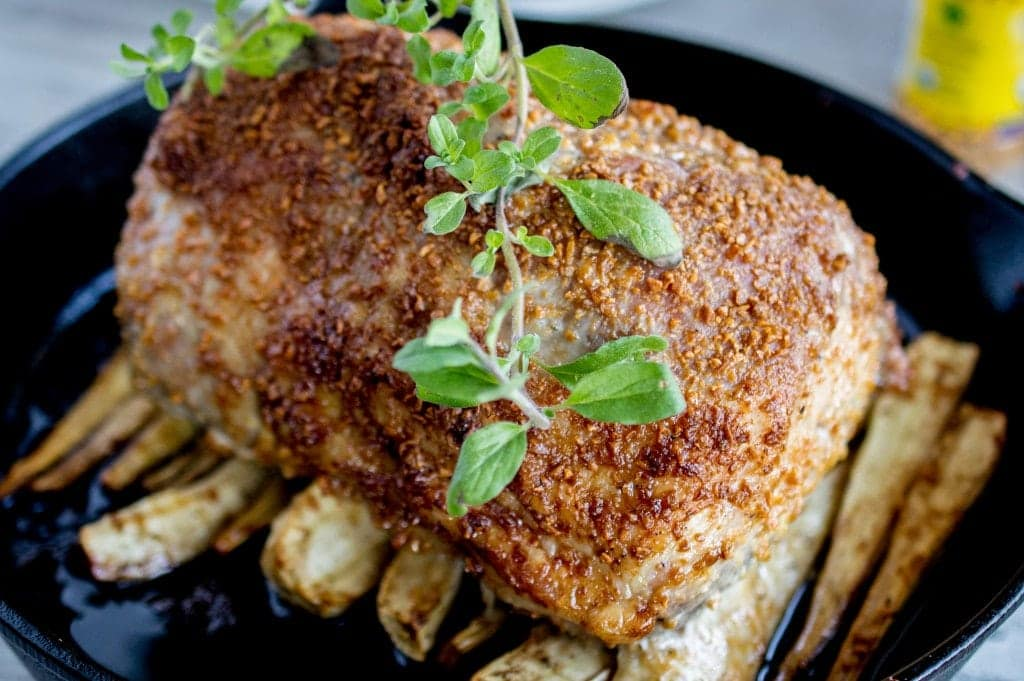 Skillet Dinner: Roast Pork and Parsnips