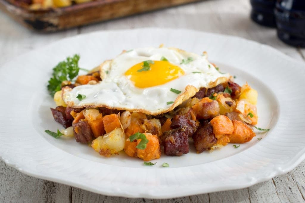 Corned Beef Sweet Potato Hash