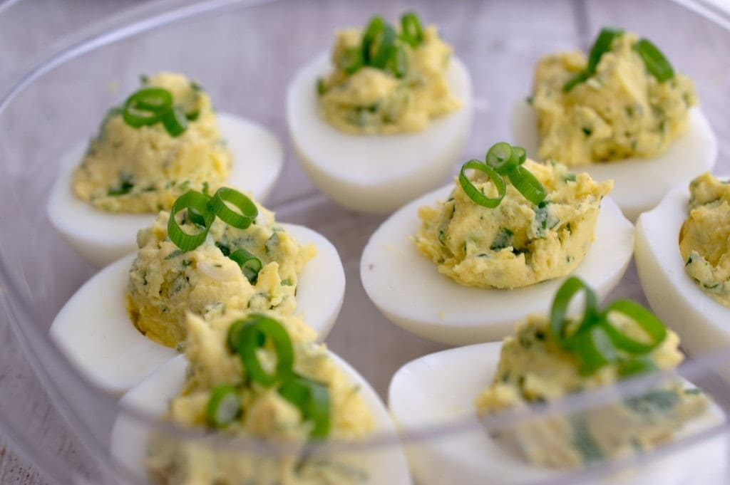 deviled-eggs-cilantro-green-onions