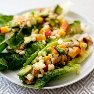 Grilled Chicken Lettuce Boats with Corn and Avocado Salad [Sponsored Post]