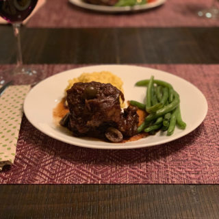 Instant Pot Balsamic Braised Short Ribs with Castelvetrano Olives