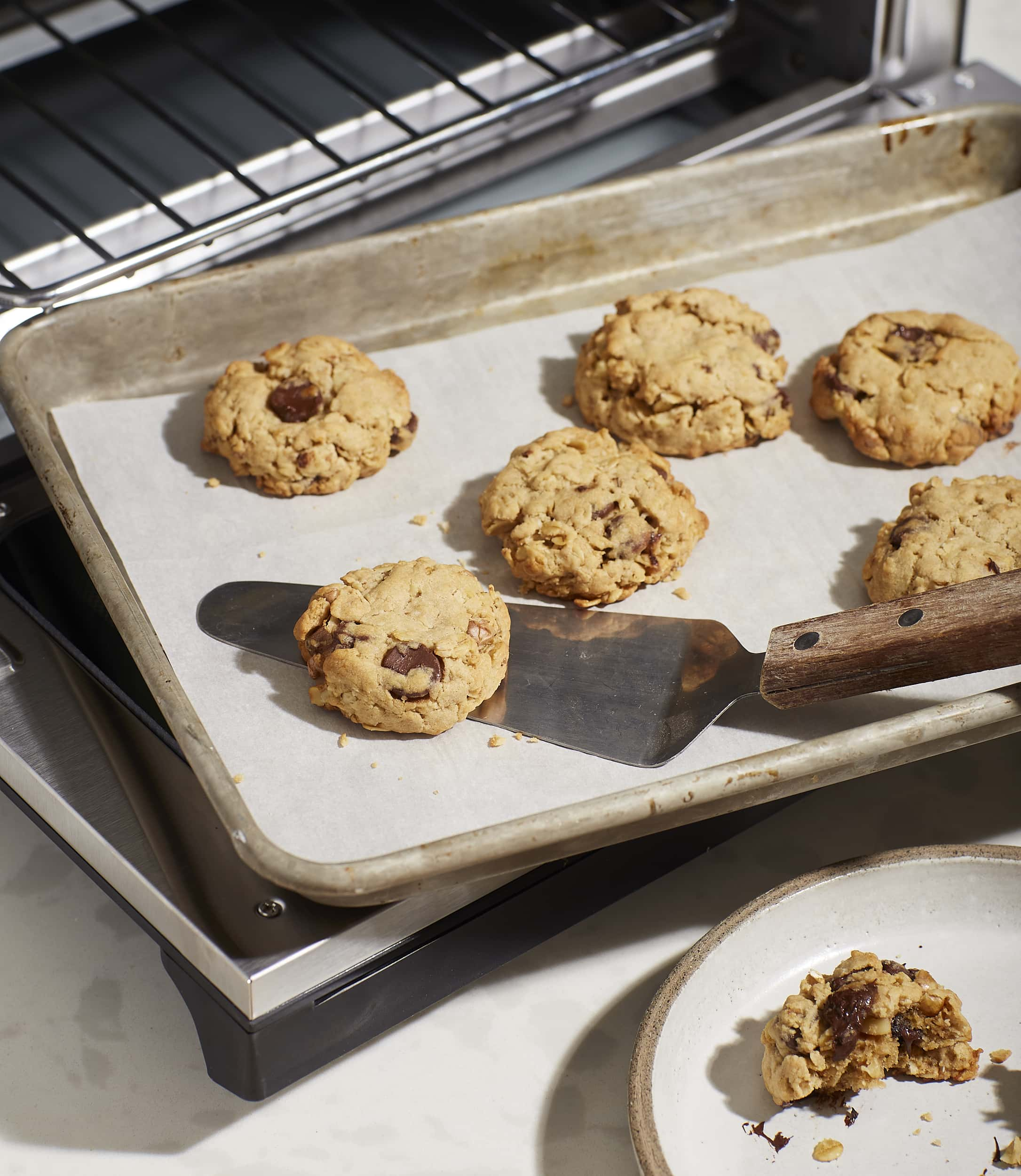 Chocolate Chip Walnut Oatmeal Cookies